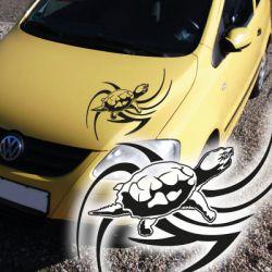 Schildkröte Turtle Tribal Autoaufkleber Auto Aufkleber