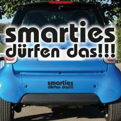 Smarties dürfen das Autoaufkleber Sticker Auto Aufkleber für Smart
