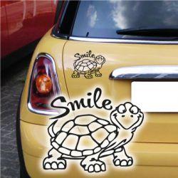 Turtle Schildkröte Smile Autoaufkleber Auto Aufkleber Sticker