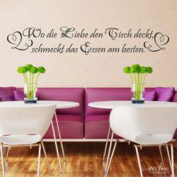 Wandaufkleber WO DIE LIEBE DEN TISCH DECKT Küche