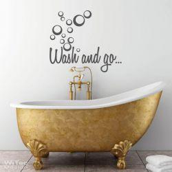 Wandtattoo Badezimmer Wash and go... Wandaufkleber