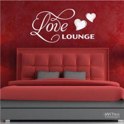Wandtattoo Love Lounge Wandaufkleber Liebe Aufkleber