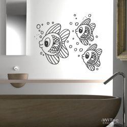 Wandtattoo Badezimmer Fischschwarm Wandaufkleber Fische