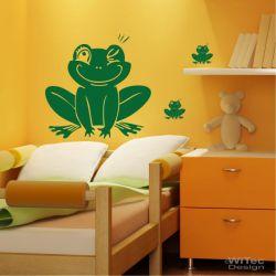 Wandaufkleber Frosch Set Wandtattoo Aukleber Sticker