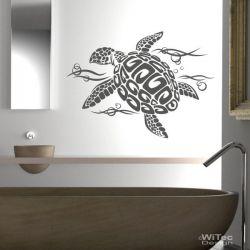 Wandtattoo Badezimmer Schildkröte Turtle Wandaufkleber