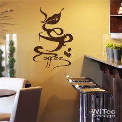 Wandtattoo Coffee Wandaufkleber Kaffee Bistro Lounge