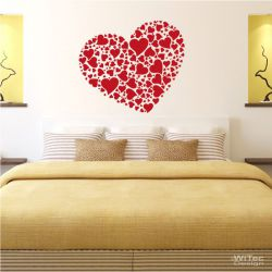 Wandtattoo Herz Wandaufkleber Liebe Herzen