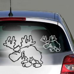 Elch Aufkleber sticker pc auto comic tiere
