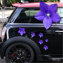 Ballonblume Blumenaufkleber Autoaufkleber Digitaldruck Aufkleber