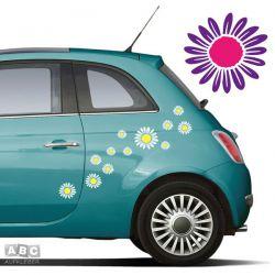 Autoaufkleber BLUMEN Aufkleber Blumenaufkleber SET 5