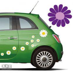 Autoaufkleber BLUMEN Aufkleber Blumenaufkleber SET 8