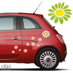 Autoaufkleber BLUMEN Aufkleber Blumenaufkleber SET 2