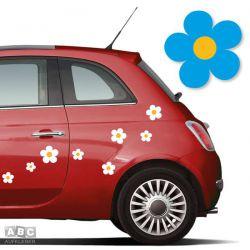 Autoaufkleber BLUMEN Aufkleber Blumenaufkleber SET 3
