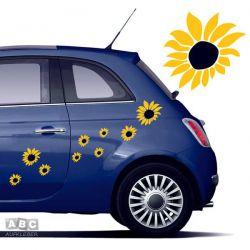 Autoaufkleber BLUMEN Aufkleber Blumenaufkleber SET 7