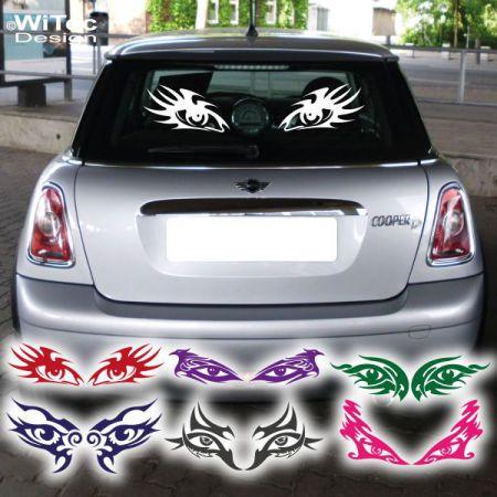 AA010 Augen tribal aufkleber auto styling gothik Heckscheibe