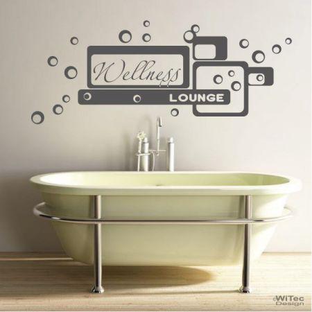 wandtattoo wellness lounge wandaufkleber bad badezimmer. Black Bedroom Furniture Sets. Home Design Ideas
