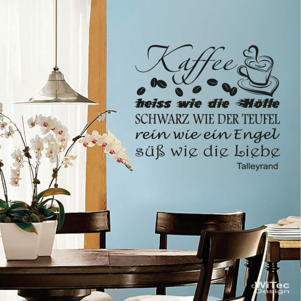 wandaufkleber kaffee wandtattoo coffee k che. Black Bedroom Furniture Sets. Home Design Ideas