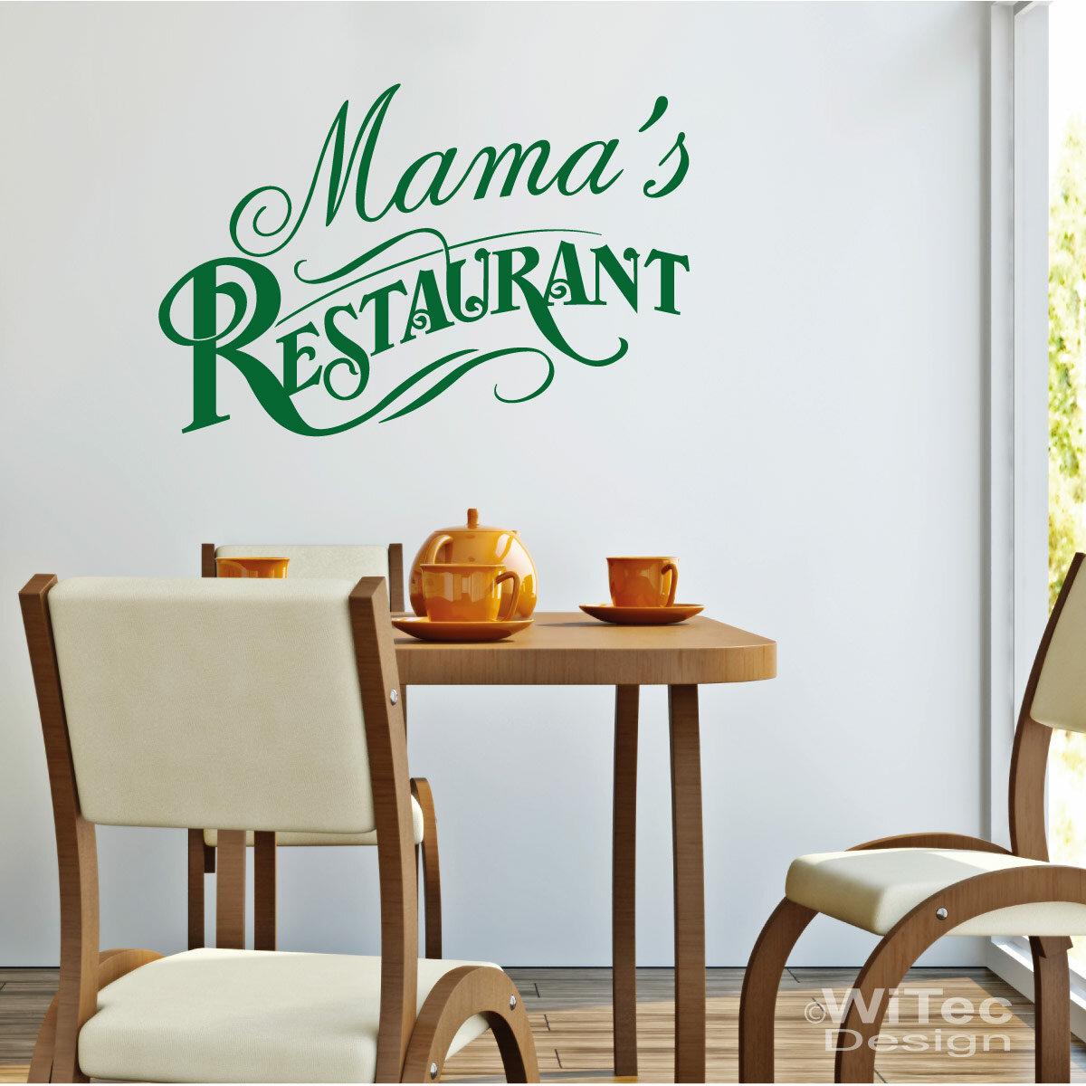 WA265 Wandaufkleber MAMA´S RESTAURANT Wandtattoo Küche