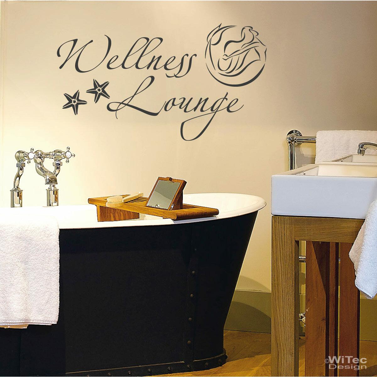 wandaufkleber wellness lounge wandtattoo bad. Black Bedroom Furniture Sets. Home Design Ideas
