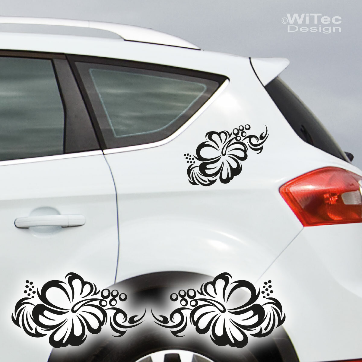 AA133 Hibiskus Hibiscus Hawaii Tribal Auto Aufkleber Sticker