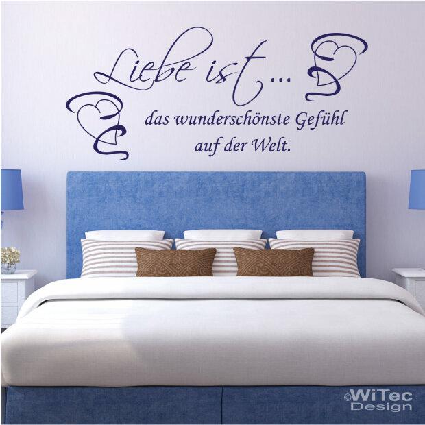 Wandaufkleber LIEBE IST... Wandtattoo Schlafzimmer