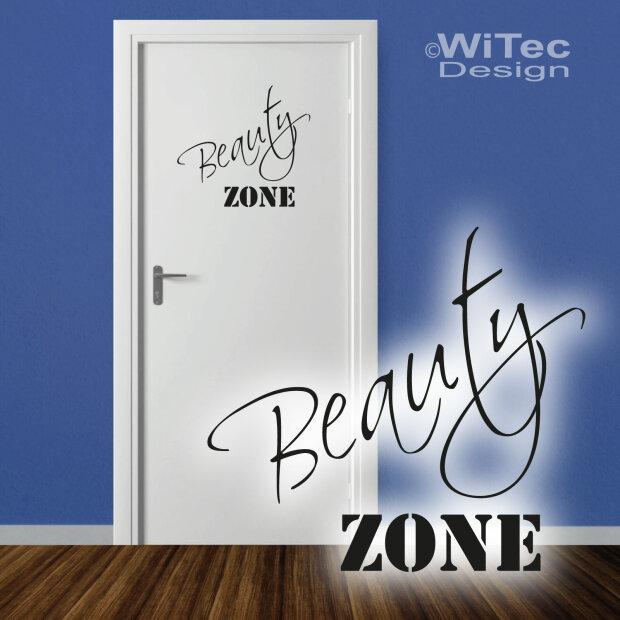 Türaufkleber BEAUTY ZONE Bad Badezimmer