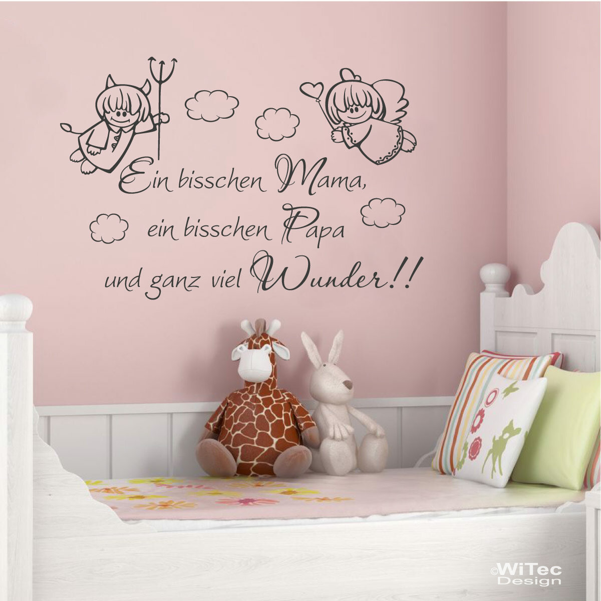 wandtattoo kinderzimmer mama papa wunder. Black Bedroom Furniture Sets. Home Design Ideas