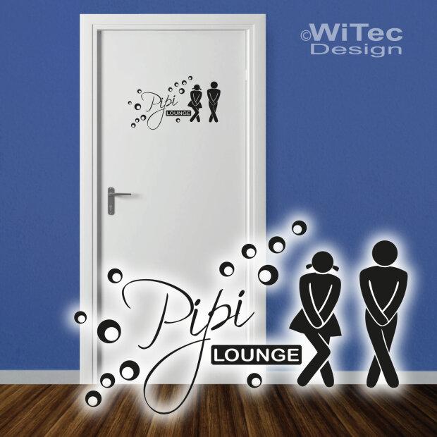 Tür Aufkleber Pipi Lounge Sticker Badezimmer