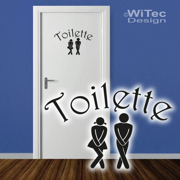 Türaufkleber Toilette Tür Aufkleber Badezimmer WC