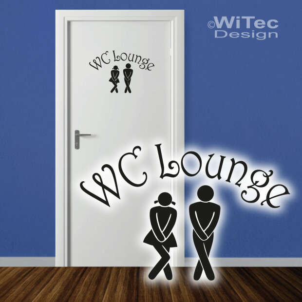t raufkleber wc lounge wandtattoo bad t r aufkleber sticker. Black Bedroom Furniture Sets. Home Design Ideas