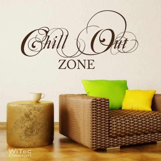 Wandtattoo Chillout Zone Wandaufkleber Lounge Wohnzimmer - Wandtattoos für wohnzimmer