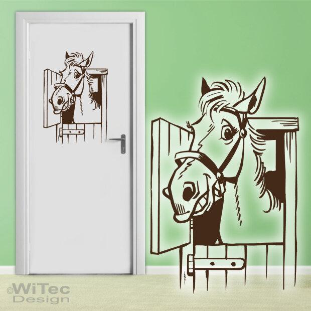 Türaufkleber Pferd Tür Aufkleber Wandtattoo Kinderzimmer