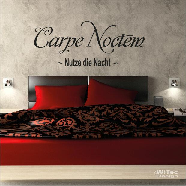 wandaufkleber carpe noctem wandtattoo nutze die nacht. Black Bedroom Furniture Sets. Home Design Ideas