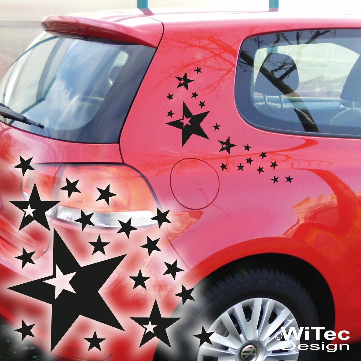Aa266 Autoaufkleber Sterne Set Auto Aufkleber Sticker