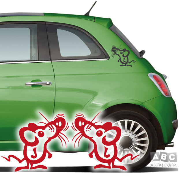 Autoaufkleber Maus 2er Set Aufkleber Auto Sticker