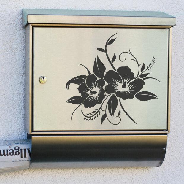 briefkastenaufkleber hibiskus dekoaufkleber blumenaufkleber. Black Bedroom Furniture Sets. Home Design Ideas