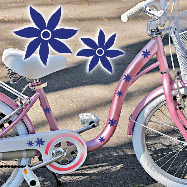 Fahrrad Aufkleber Blumen Blüten Set Abc Aufkleberde