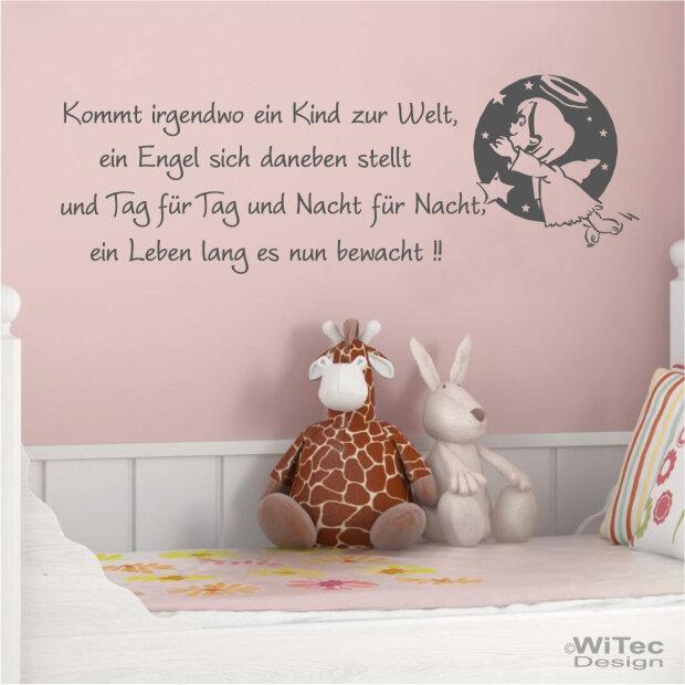 Wandtattoo Kinderzimmer Engel Spruch Kinderreim Wandaufkleber