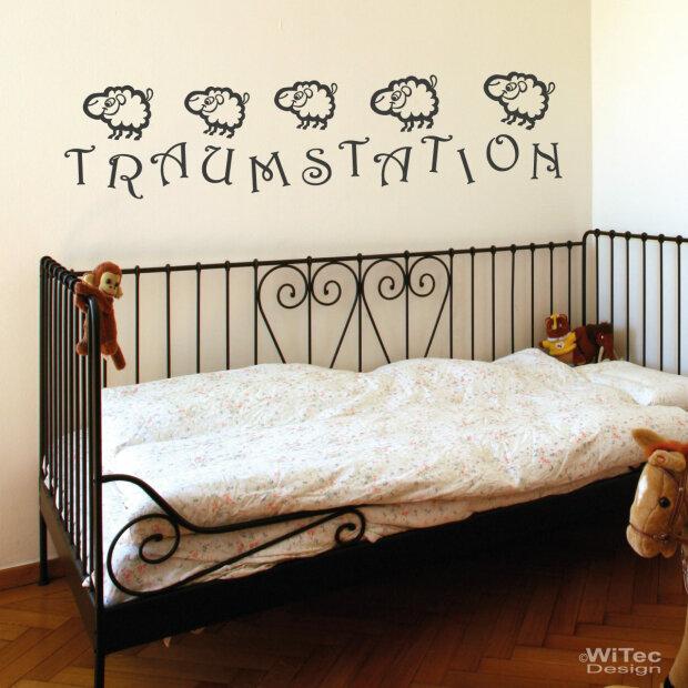 Wandtattoo kinderzimmer traumstation schafe wandaufkleber for Kinderzimmer wandaufkleber