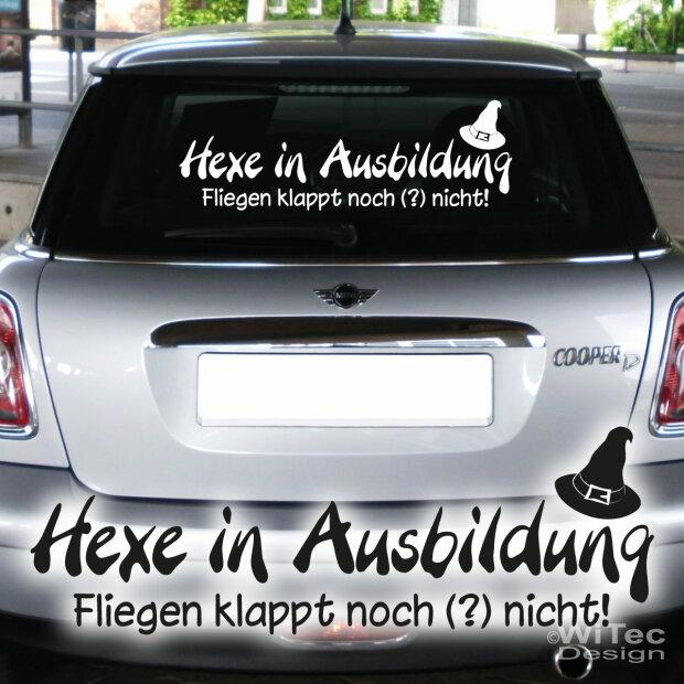 Autoaufkleber Hexe In Ausbildung Schriftzug Auto Aufkleber