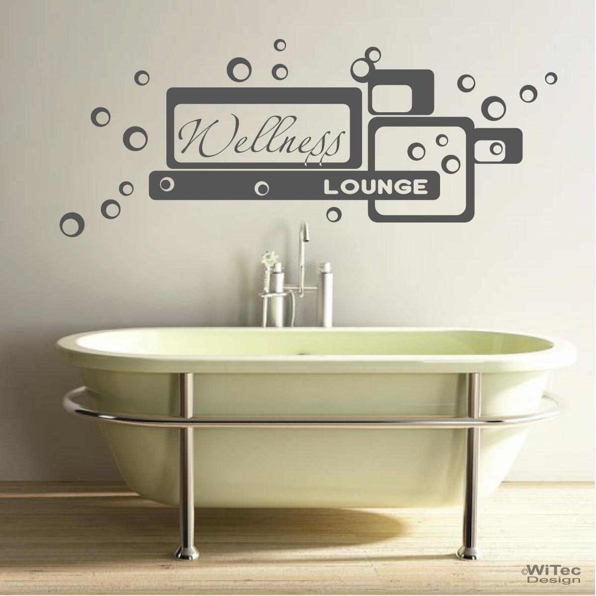 Wandtattoo wellness lounge wandaufkleber bad badezimmer - Badezimmer aufkleber ...