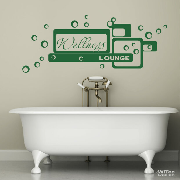 Wandtattoo Wellness Lounge Wandaufkleber Bad Badezimmer