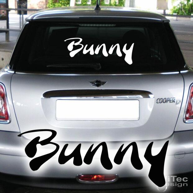 Bunny Autoaufkleber Schriftzug Auto Aufkleber Heckscheibe