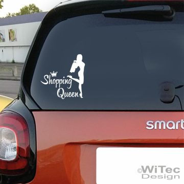 Shopping Queen Autoaufkleber Auto Aukleber Sticker