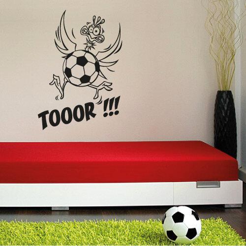 Fußball Vogel Wandtattoo Fussball Wandaufkleber Kinderzimmer