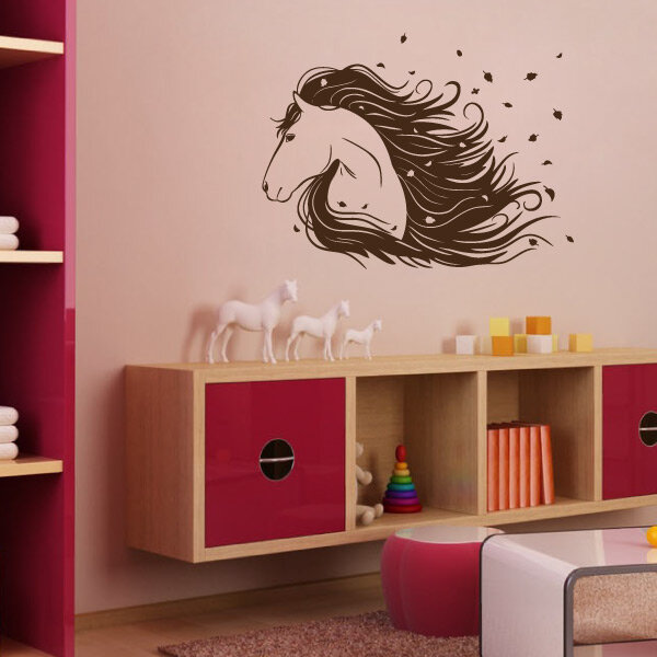 pferd wandtattoo wandaufkleber kinderzimmer. Black Bedroom Furniture Sets. Home Design Ideas