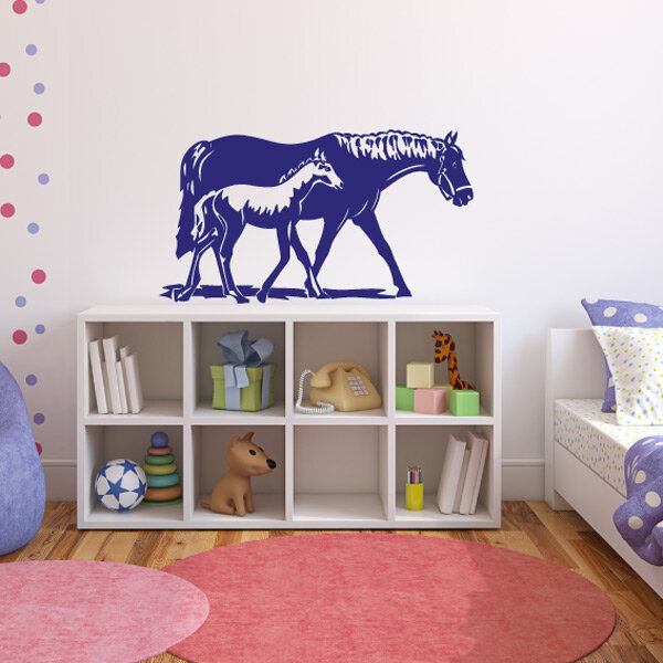 pferd fohlen wandtattoo wandaufkleber pferde kinderzimmer. Black Bedroom Furniture Sets. Home Design Ideas