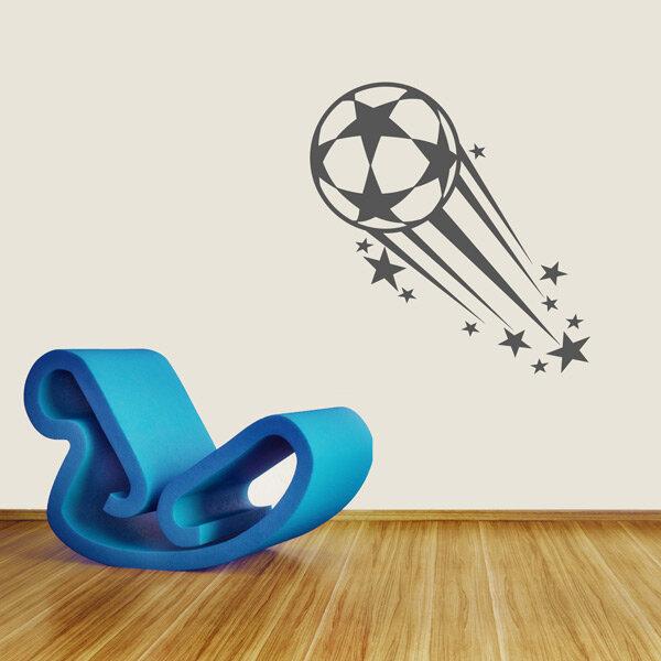 fu ball wandtattoo fussball sterne wandaufkleber. Black Bedroom Furniture Sets. Home Design Ideas