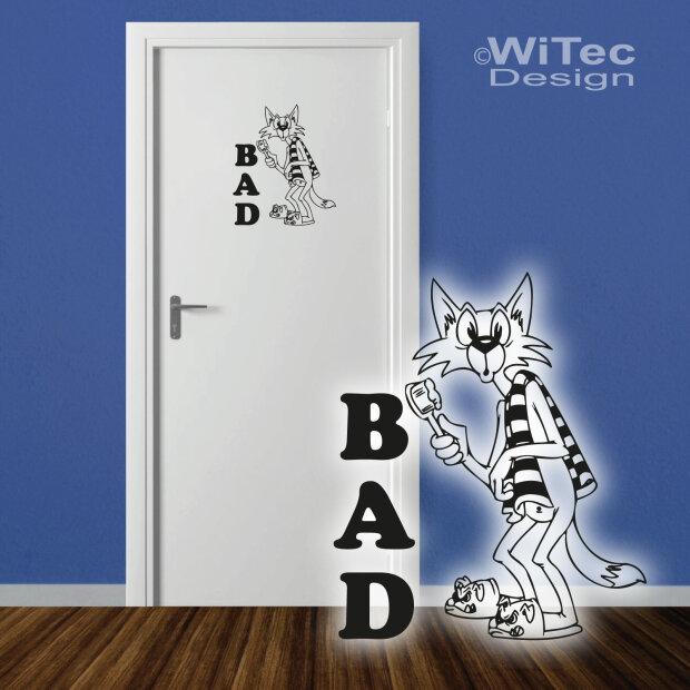 T raufkleber badezimmer katze t r aufkleber t rtattoo - Badezimmer comic ...