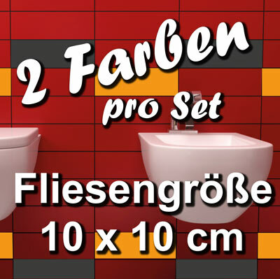 FA701 Fliesenaufkleber 1qm Fliesenfolie Badezimmer 10x10